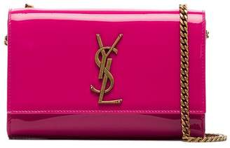 Saint Laurent Patent leather kate monogram cross body Bag