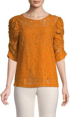 Elbow-Puff Lace Top