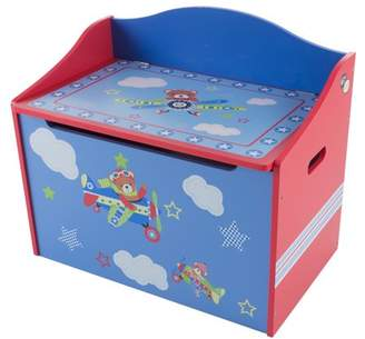 Toy Box-Storage Bench Seat for Kids-Organization Chest for Toys, Stuffed Animals, Clothes, Blankets-Bedroom, Playroom Furniture by Hey! Play! (Blue)