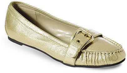 Metallic buckle loafer