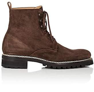 Harris Men's Suede Lace-Up Boots - Dk. brown