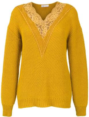 Nk knitted top with lace detail