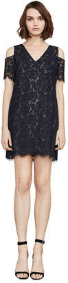 BCBGMAXAZRIA Celestia Cold-Shoulder Lace Dress