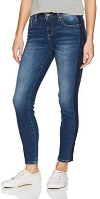 Miss Me Women's Basic Skinny Denim Jean Tuxedo Stripe Detail