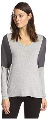 James & Erin Women's Color Block Top