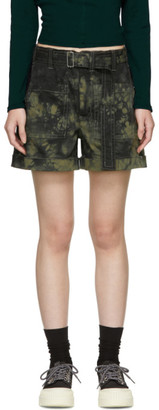 Proenza Schouler Khaki and Black Slouchy Shorts