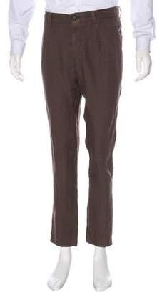 Brunello Cucinelli Linen Flat Front Pants