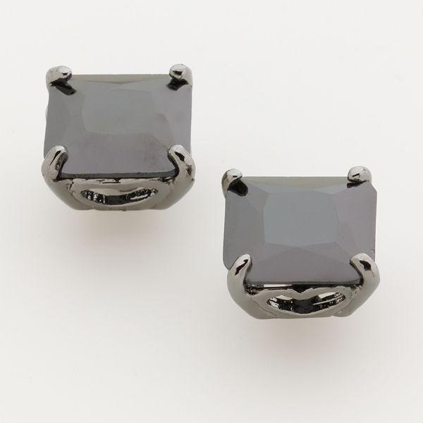 Simply Vera Vera Wang Silver-Tone Crystal Stud Earrings
