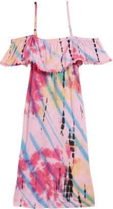 Flowers by Zoe Tie Dye Cold-Shoulder Dress Size S-XL