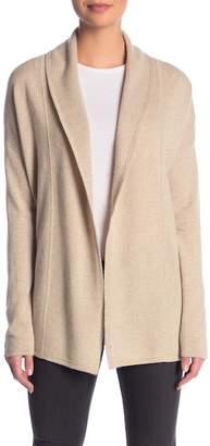 Sofia Cashmere Cashmere Textured Shawl Cardigan