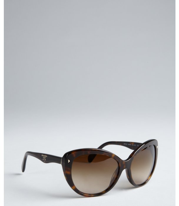 Prada brown acrylic cat eye sunglasses