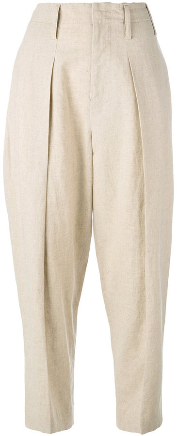 Y's Y's wide leg tapered trousers