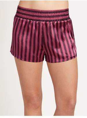 Morgan Lane Corey Short In Amaranth Stripe