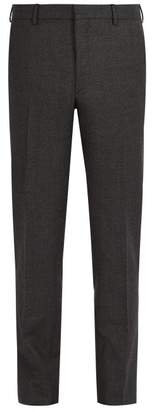 Prada Slim Leg Wool Trousers - Mens - Grey