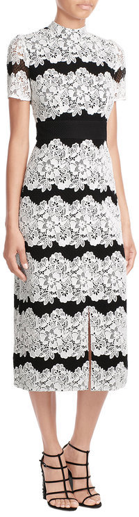 Burberry Burberry London Two-Tone Cocktail Dress with Lace