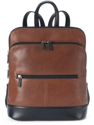 Ili ili Adjustable Strap Leather Backpack