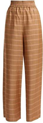 Golden Goose Sophie High Rise Checked Trousers - Womens - Orange Multi