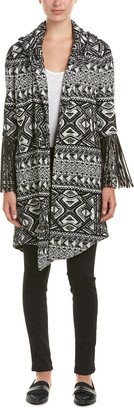 Haute Hippie Leather-Fringe Coat