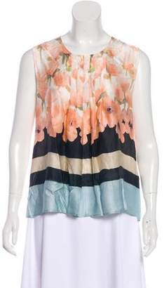 Max Mara Silk Floral Top