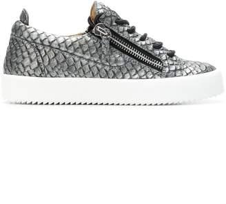 Giuseppe Zanotti Design snake embossed Gail sneakers