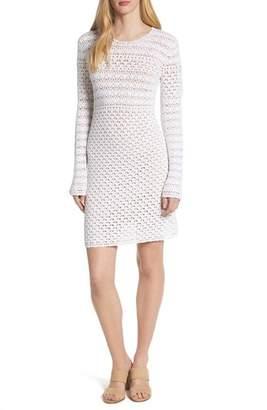 MICHAEL Michael Kors Crochet Body-Con Cotton Sweater Dress