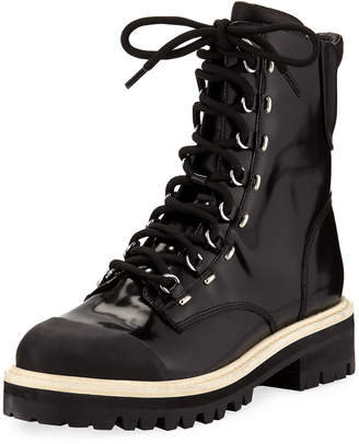 Sigerson Morrison Lace-Up 40mm Combat Boots