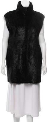 Oscar de la Renta Fur Longline Vest