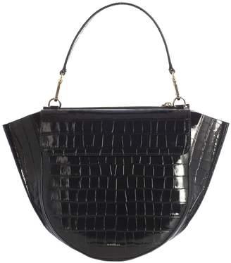 Croco Wandler Print Medium Shoulder Bag Big Shoulder With Gold Inserts 73d7a732e7621