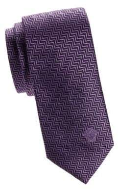 Versace Chevron Silk Tie