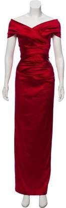 Talbot Runhof Satin Evening Dress