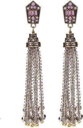 Heidi Daus Windsor Beaded Tassel Earrings