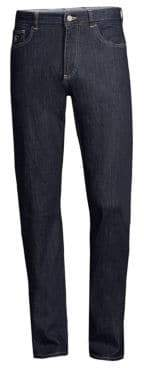 Canali Straight Leg Stretch-Cotton Jeans