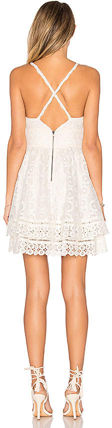 Lovers + Friends Lovers + Friends Moon Dance Dress in White 3