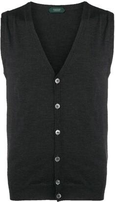 Zanone v-neck knitted vest