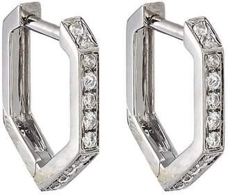 Eva Fehren Women's Hexagon Hoop Earrings