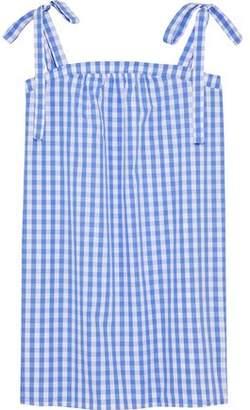 Three J NYC Bow-Detailed Gingham Cotton-Poplin Nightdress