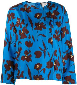 Alysi loose-fit floral blouse