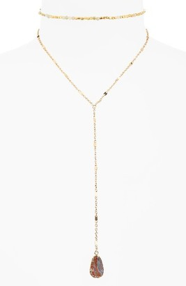 Women's Panacea Sunstone Layered Y-Necklace $34 thestylecure.com