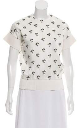 Victoria Beckham Floral Print Short Sleeve Top
