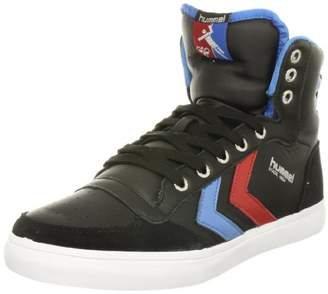 Hummel (ヒュンメル) - [ヒュンメル] hummel Stadil High Leather HM63066S 2640 (Black/Brilliant Blue/Ribbon Red/36)