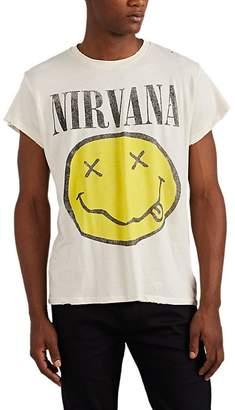 "Madeworn Men's ""Nirvana"" Distressed Cotton T-Shirt"