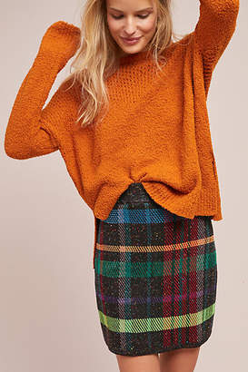 Cecilia Prado Textured Plaid Mini Skirt