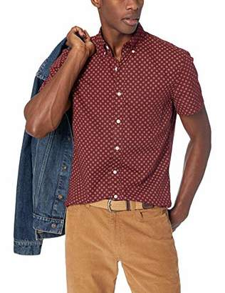J.Crew Mercantile Men's Slim-Fit Short-Sleeve Floral Shirt