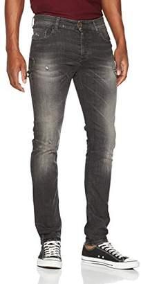 Benetton Men's Jeans Straight Jeans, Grey (Dark 701), W34/L33 (Manufacturer Size: 34)
