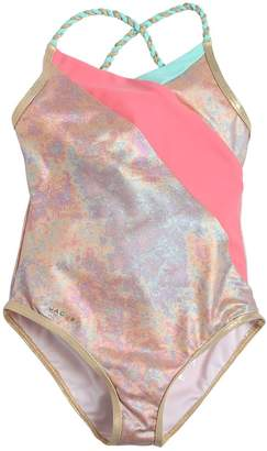 Little Marc Jacobs Iridescent Lycra One Piece Swimsuit