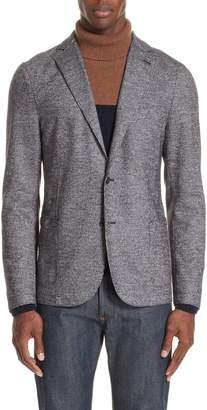 Eleventy Trim Fit Houndstooth Wool & Cotton Sport Coat