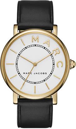 Marc Jacobs Women Roxy Black Leather Strap Watch 36mm