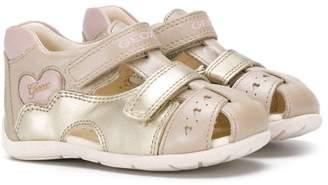 Geox Kids heart detail velcro sandals
