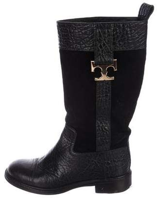 Tory Burch Suede Mid-Calf Boots