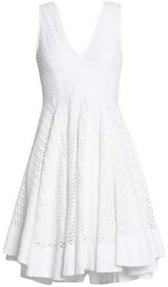 Sandro Bliss Gathered Crochet-Knit Mini Dress